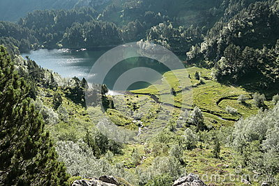Balbonne lake in Pyrenees