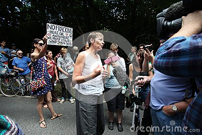 Balcombe Fracking Protests Editorial Stock Image