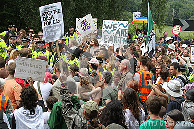 Balcombe Fracking Protests Editorial Image