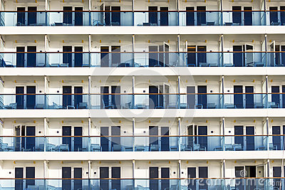 Balconies on a cruise ship