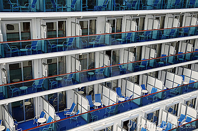Balconies on a cruise ship royalty free stock photos for All balcony cruise ship