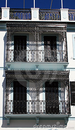 Balconies decorative railings