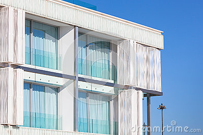 Balconies in a New Glass Wall Apartment House