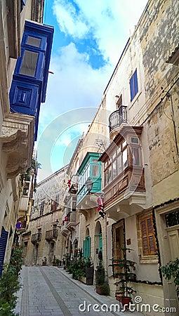 Free Balconies Of Malta Royalty Free Stock Photo - 48457965