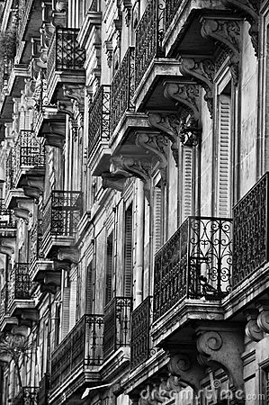 Balconies on old building