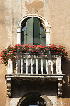 Free Balcony And Flowers Royalty Free Stock Photos - 12978308