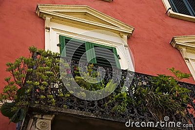 Balcony in Borgo a Buggiano, Tuscany, Italy