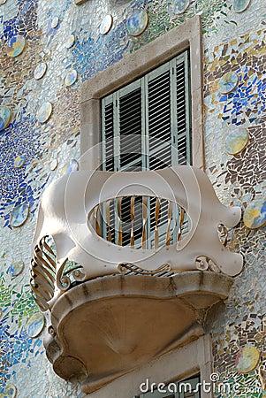 Balcony of Casa Batllo, Barcelona