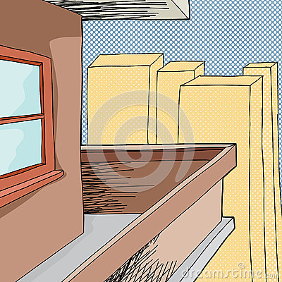Balcony in city stock vector image 45389947 for Balcony cartoon