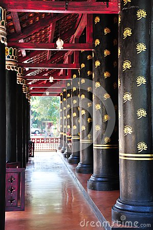 Balcony Column In Thai Ancient