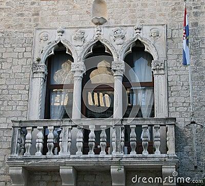 Balcony And Croatian Flag