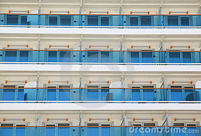 Balcony on cruise ship