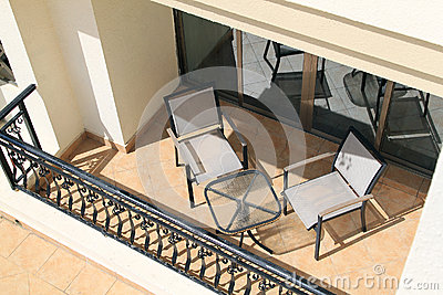 Balcony with Furniture