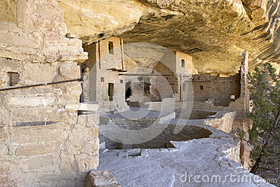 Balcony House Dwellings in Mesa Verde National Par