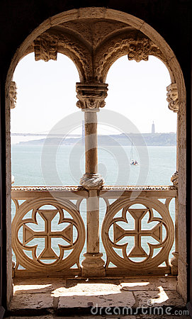 Free Balcony In Tower Of Belem Royalty Free Stock Images - 25048599