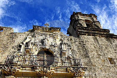 Balcony and Tower of a Spanish Mission