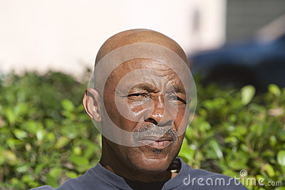 Bald African American Man