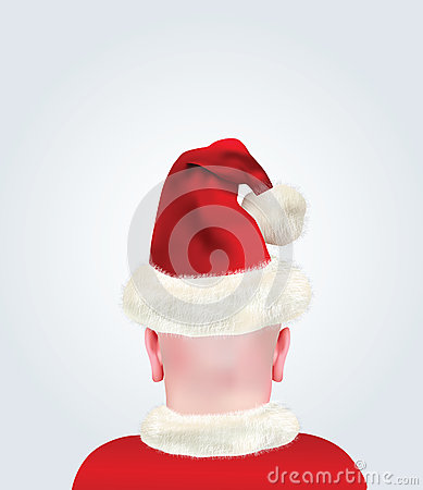 Bald Head With Christmas Suit and Hat