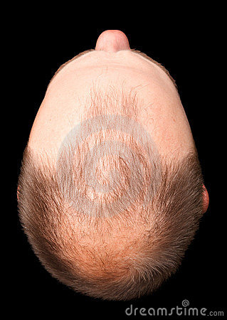 Bald head cut-out