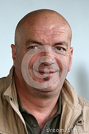 Bald Headed Man Smiling