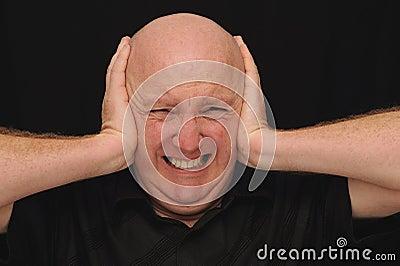 Bald Man with a Headache