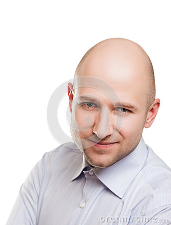 Bald man portrait