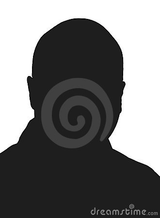 Bald man silhouette