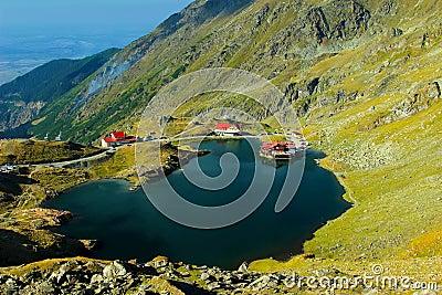 Balea lake in Fagaras mountains