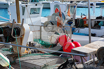 Balearic islands professional fisher boats