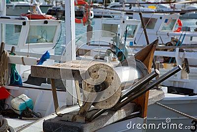 Balearic islands professional fisher boats