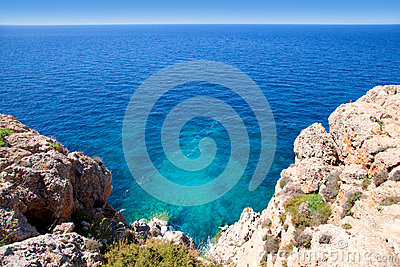 Balearic Mediterranean sea high view from Barbaria