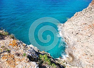 Balearic Mediterranean sea high view from Barbaria