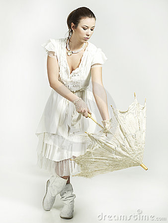 Balerrina in vintage dress