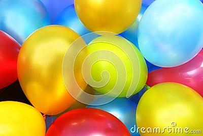 Balões coloridos do partido