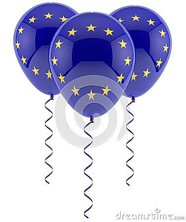 Balões da UE - bandeira