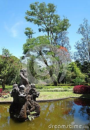 Bali Botanic Garden fountain