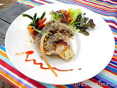 Bali cafe fish dish