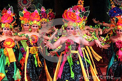 Bali dance sengkuni Editorial Photography