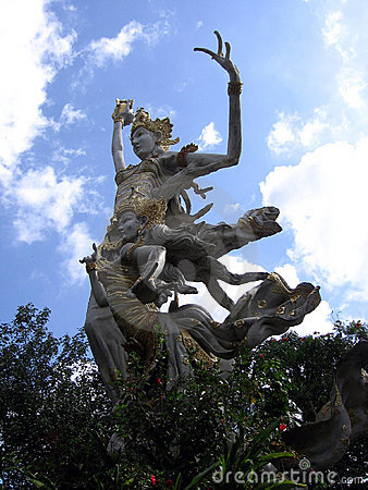 Bali. Goddess against the sky