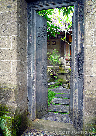 Bali house and garden entrance