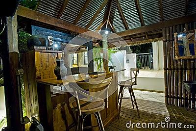 Bali Hut with bar