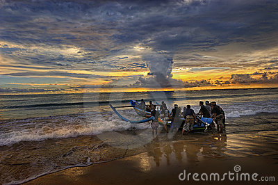 Bali - Jimbaran Beach Editorial Photography