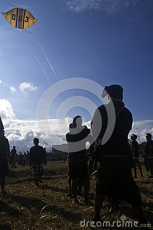 Bali Kite Festival Editorial Stock Photo