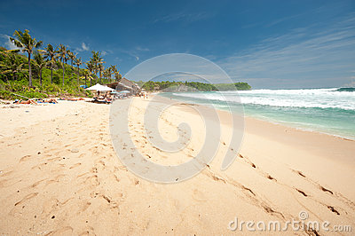 BALI- MAY 8:  Balangan Beach is one of the surfing beaches on th Editorial Stock Image