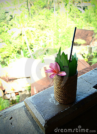 Bali resort hotel welcome drink