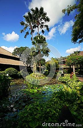 Bali resort landscaping