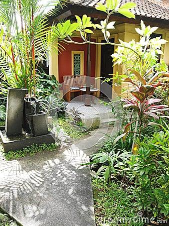 Bali resort patio garden