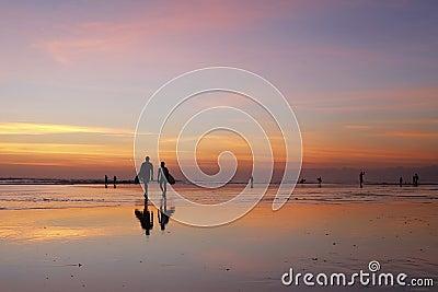 Bali Sunset Surfing