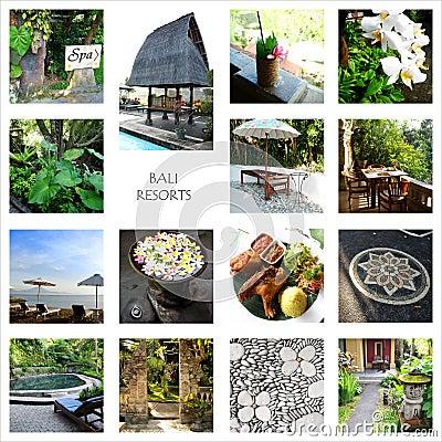 Bali tourism - resorts collage