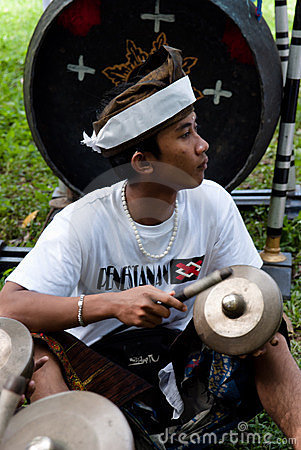 BALI: traditional balinese musician Editorial Stock Image